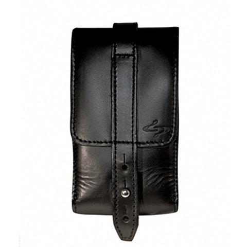 Black Piatto Leather Phone Holster