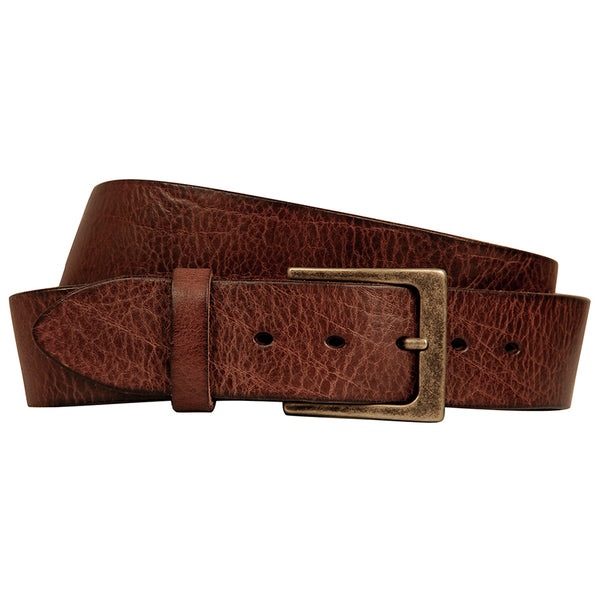 Lato | Brown | Curved Handmade Leather Belt | Embrazio