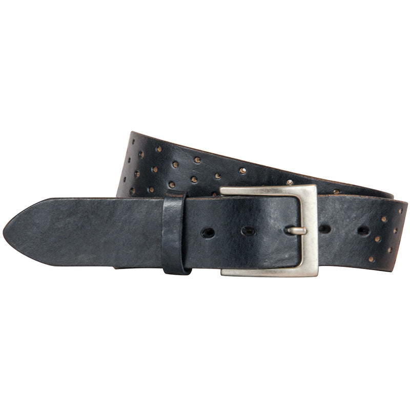 <b>Perforata</b> Curved Handmade Leather Belt
