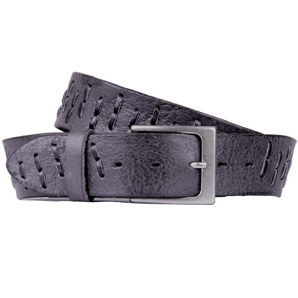 Segmento | Grey, Black | Handmade Custom Leather Belts | Embrazio