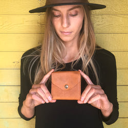 Handmade Leather Small Women's Wallet