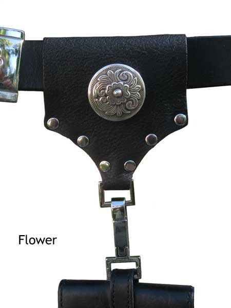 Handmade Leather Phone Holster Connector - Embellished