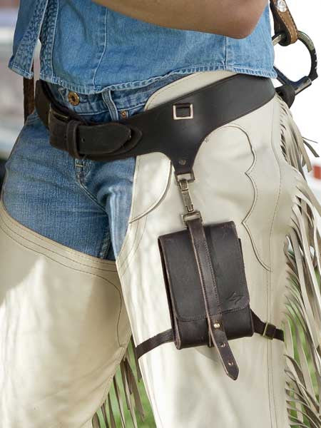 Thigh strap keeps phone secure