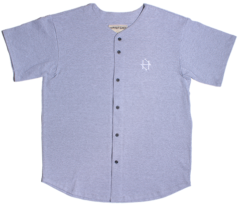 Heather Grey Baseball button up
