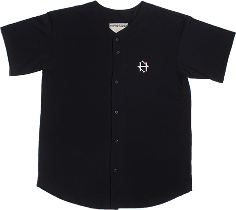 Black Baseball button up