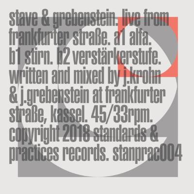 "Live from Frankfurter Straße (New 12"")"