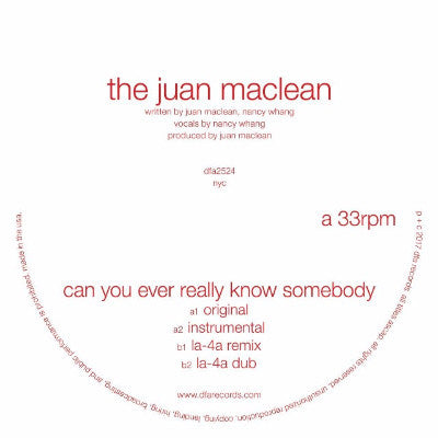 "Can You Ever Really Know Somebody (New 12"")"