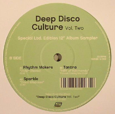 "Deep Disco Culture Vol. Two (Underground Disco Rarities & Future Club Classics) (New 12"")"