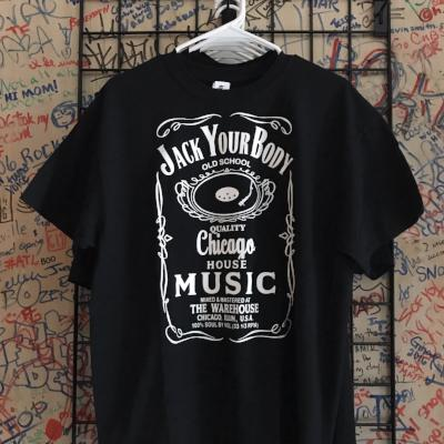 Jack Your Body Tee (White On Black)
