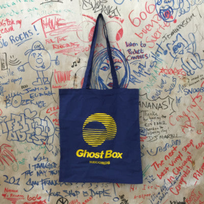 Ghost Box Records Tote (Yellow On Blue)