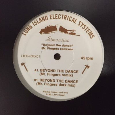 """Beyond the Dance"" (New 12"")"