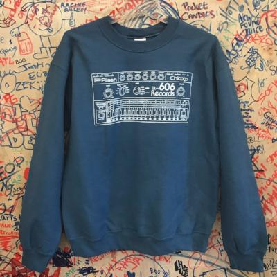 Drum Machine Sweatshirt- Indigo Blue