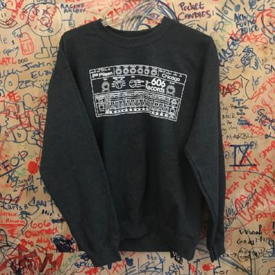 Drum Machine Sweatshirt- Dark Heather Grey