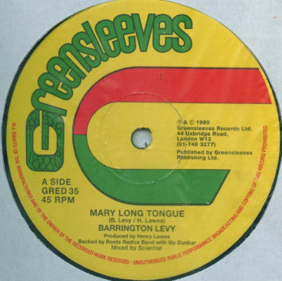 "Mary Long Tongue / Look Youthman (New 12"")"
