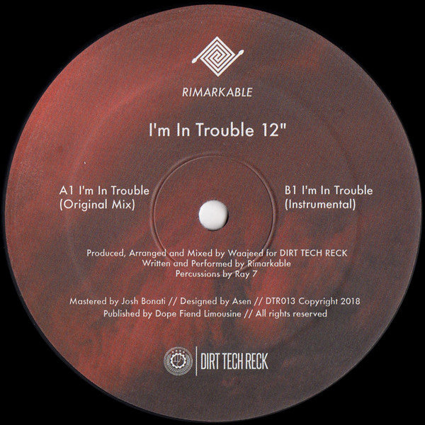 "I'm In Trouble (New 12"")"