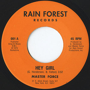 "Hey Girl / Don't Fight The Feeling (New 7"")"