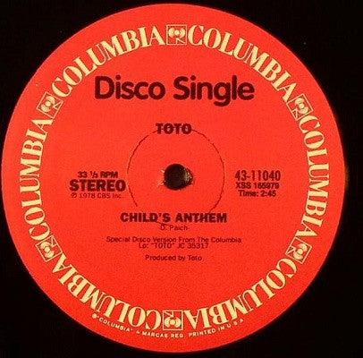 "Child's Anthem (Used 12"")"