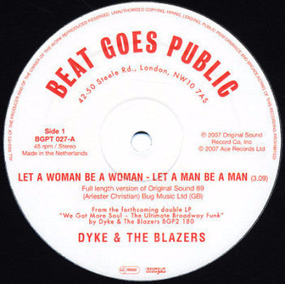 "Let A Woman Be A Woman - Let A Man Be A Man (New 12"")"