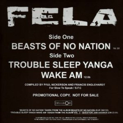 "Beasts of No Nation (Used 12"")"