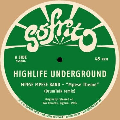 "Highlife Underground EP (New 12"")"