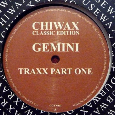 "Gemini Traxx Part One (New 12"")"