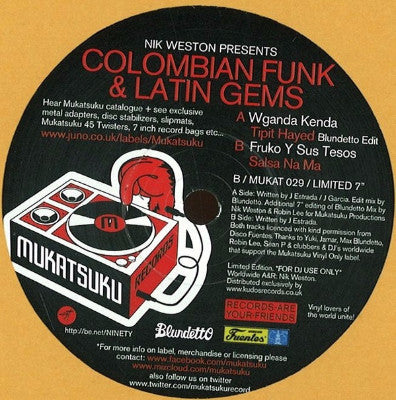 "Colombian Funk & Latin Gems (New 7"")"