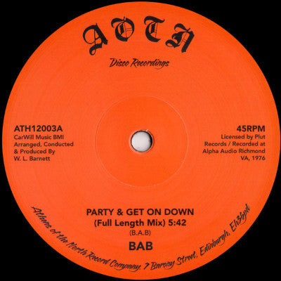 "Party & Get On Down (New 12"")"
