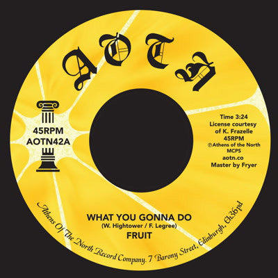 "What You Gonna Do (New 7"")"
