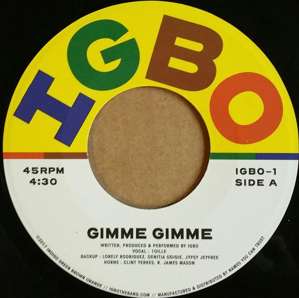 "Gimme Gimme (New 7"")"