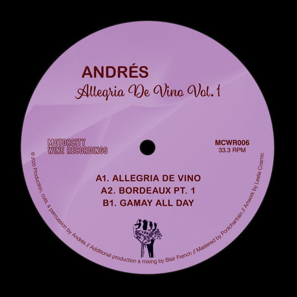 "Allegria de Vino Vol. 1 (New 7"")"