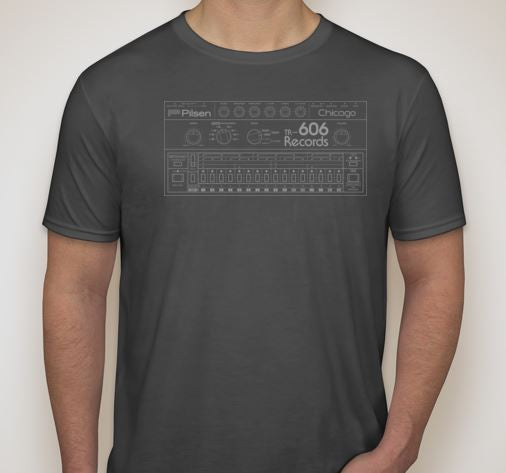 Drum Machine Shirt- Dark Heather