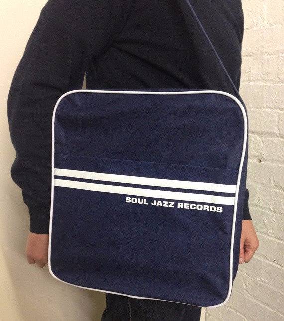 Record Bag - Classic Navy Blue/White 12""