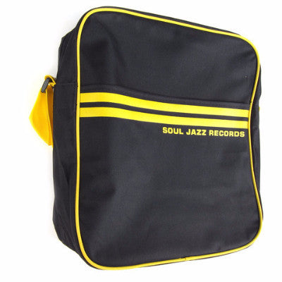 Record Bag - Black/Yellow 12""