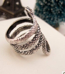 Snake Style German Silver Ring
