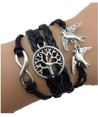 Tree of Life Infinty Dove Charm Braclet