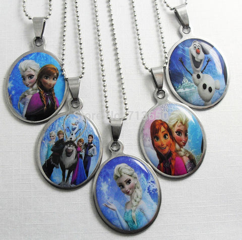 Girls Frozen Silver Pendant Necklace, Bracelet & Silver Ring Jewelry Set