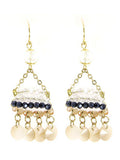 Bead Accent Dangle Earrings
