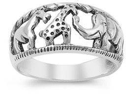 Sterling Silver Animals on Zoo Ring