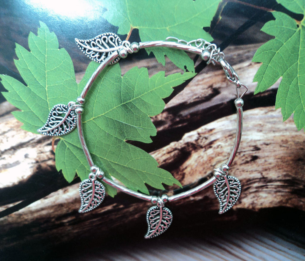 Silver Maple Leaf Bracelet