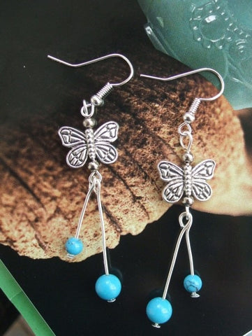 Tibetan Butterfly Earrings