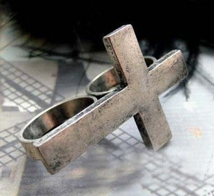 Reto Bicycle Double Cross German Silver Ring