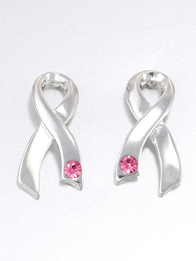 Side Breast Cancer Earrings