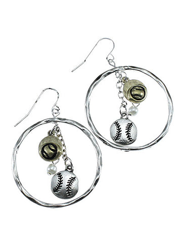 Softball Charm Earrings