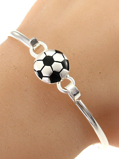 Soccer Ball Hook Bangle Bracelet