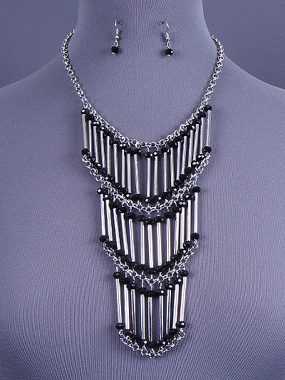 Layered Bead & Chain Link Set