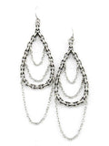 Chain Tear Drop Dangle Earrings