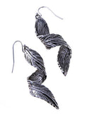 Twisted Leaf Fish Hook Earrings