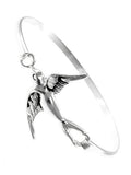 Mockingbird Metal Bangle