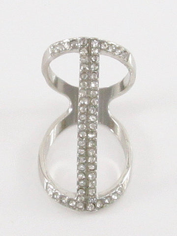 Stone Bar Centered Ring