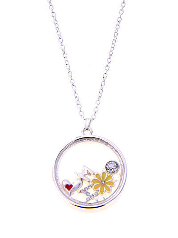 Mom Floating Charms Necklace